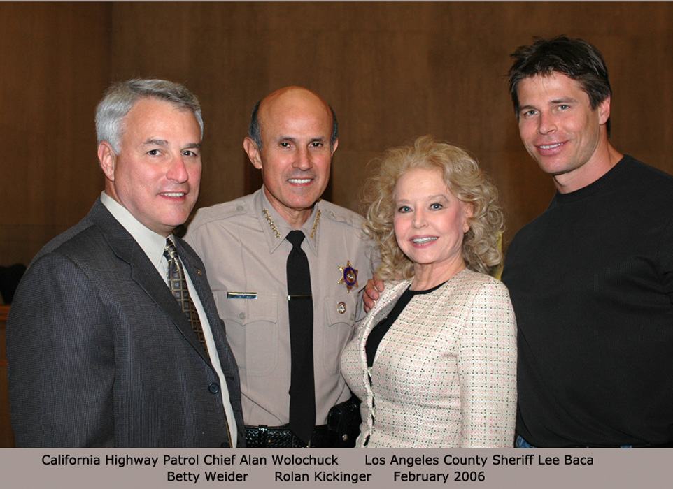 Los Angeles County Sheriff Lee Baca Betty and Joe Weider