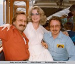 """Betty and Joe Weider, Albert Busek- Berchtesgaden Germany"""